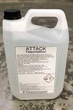 Attack Ytdesinfektion