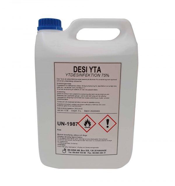 DESI YTA, Yt desinfektionsmedel 5-liter, 4-pack 1