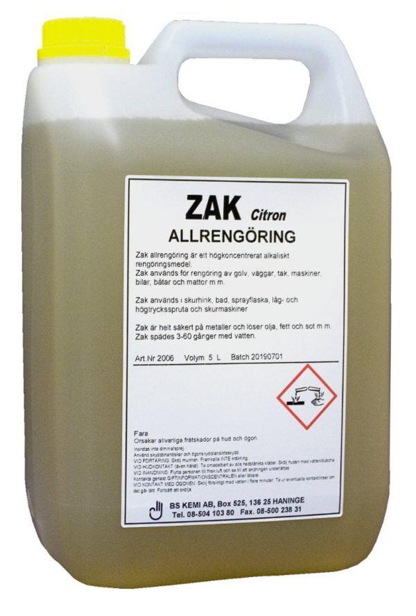 Zak Allrengöring citron