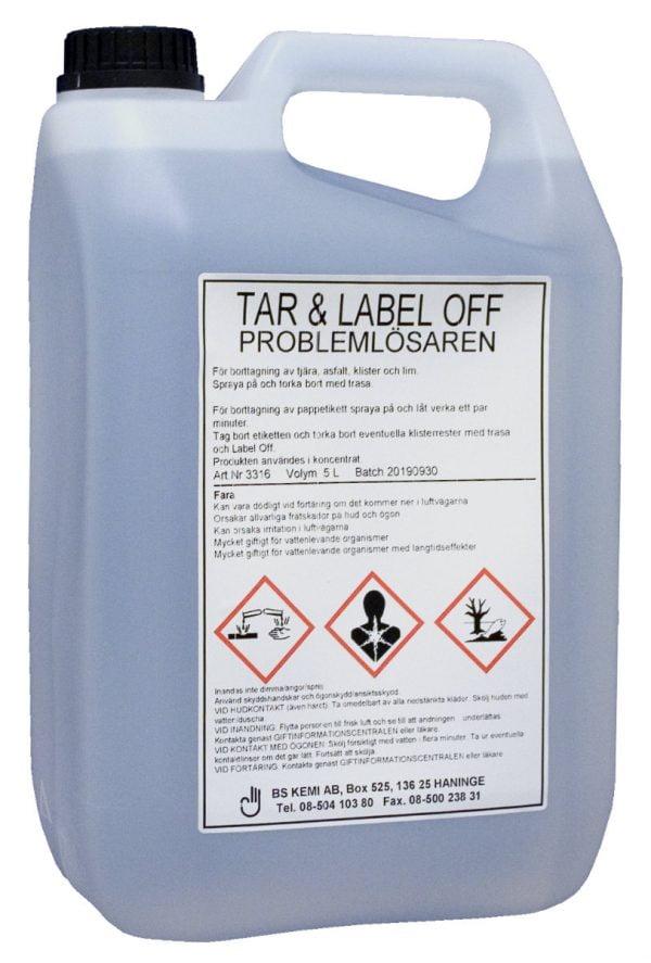 Tar & Label off