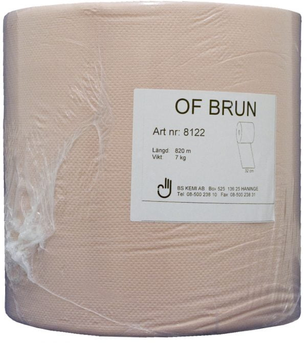 OF Brun pappersrulle