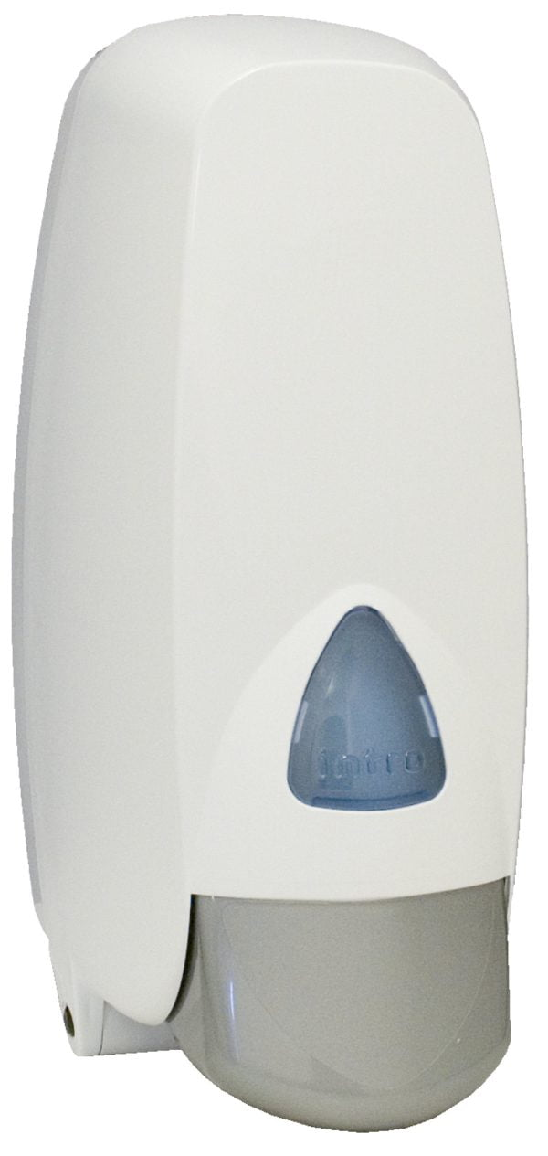 Tvåldispenser, vit plast 1
